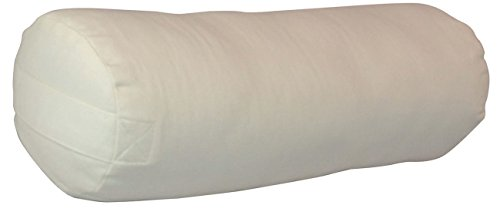 YogaAccessories Small Junior Sized Round Cotton Yoga Bolster