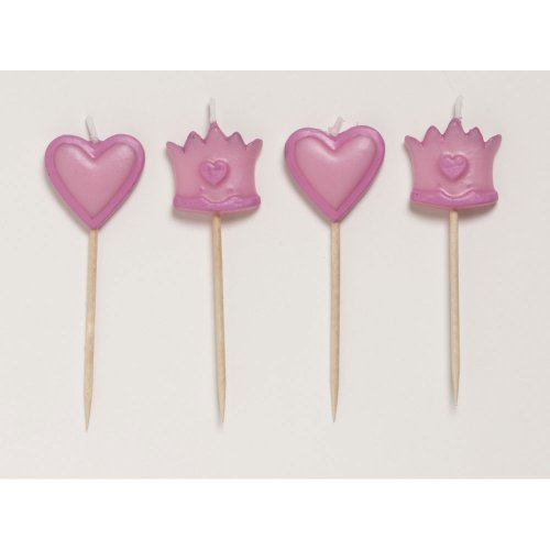 Fairytale Princess Pick Candles 4 Per Pack