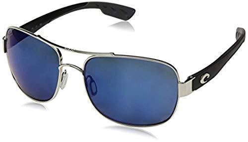 Costa Cocos Sunglasses Palladium/Blue Mirror 580P & Carekit Bundle (Costa Del Mar Palladium)