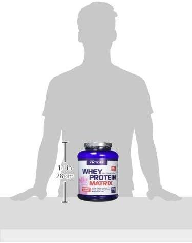 Victory Whey Protein Matrix Fresa, 2 kg. Proteina de suero de leche. Promueve el crecimiento muscular.