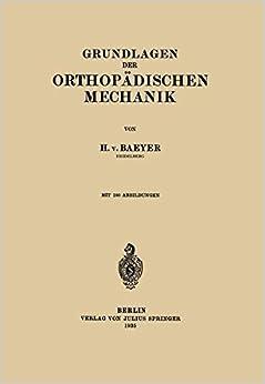 Book Grundlagen der Orthopädischen Mechanik