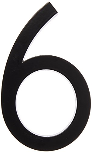 Hy-Ko Products FM-6/6 Floating House Number 6 (SIX), 6 High, Black