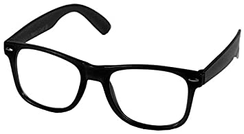 hot sale online classic fit top fashion Clear Retro Style Oversized Black Frame Nerd Geek Glasses: Amazon ...