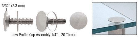C.R. LAURENCE LPC34BS CRL Brushed Stainless Low Profile Cap Assembly for 3/4