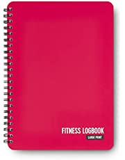 Fitness Logboek Softcover Berry - Grote Print