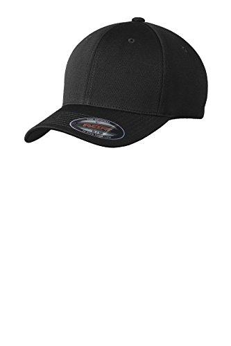 Sport-Tek Men's Flexfit Cool & Dry Poly Block Mesh Cap L/XL Black