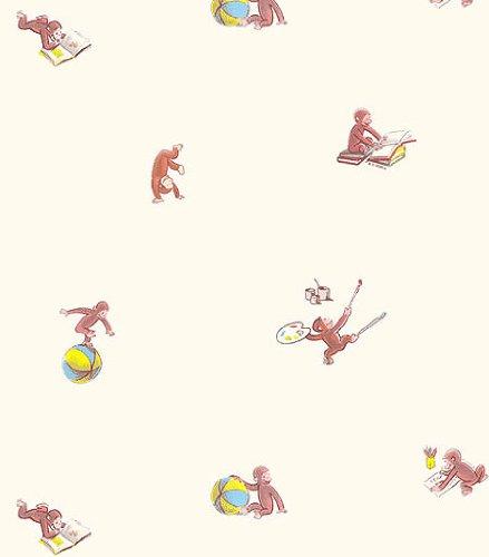 Curious George Fun Wallpaper Roll