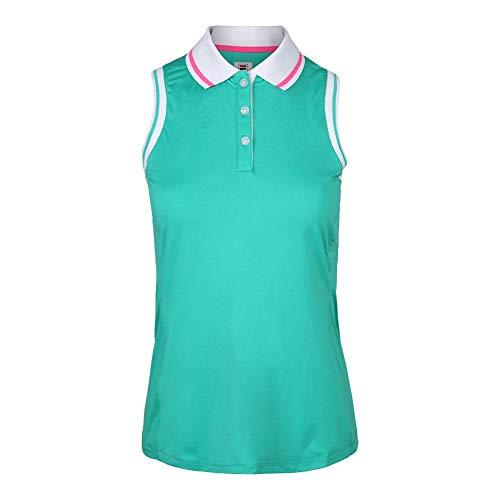 - Fila Women`s Windowpane Sleeveless Tennis Polo Atlantis (X-Small)