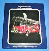 Regent Square Collection Christmas Fireman Fire Truck Hanging Ornament with Fine European Crystals (Regent Square Ornament)