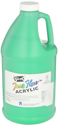 Sax True Flow Heavy Body Acrylic Paint, 1/2 Gallon, Emerald Green