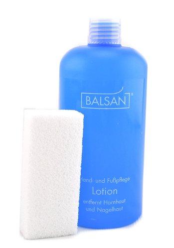 Balsan Hornhautentferner Lotion 500ml + Hartschwamm