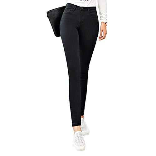 Mode Mince Femmes Stretch lastique pour Leggings Haute Jeans Jeans Les Crayon Skinny Imitation Haute Slim Pantalon Taille Denim wqBAwFgrx