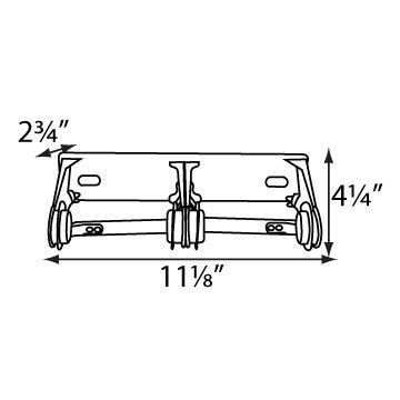 Palmer Fixture RD0384-12 Standard Two Roll Tissue Dispenser, Bright Chrome
