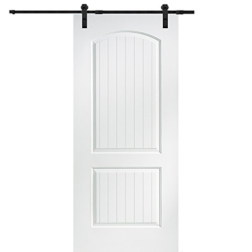 National Door Company Z009522 Solid Core Molded 2-Panel Planked, Primed, 32'' x 80'', Barn Door Unit by National Door Company