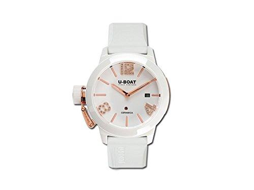 U-Boat Classico Automatic Watch, Ceramic, White, 42mm, 7125