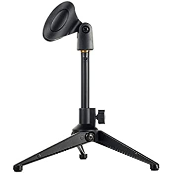 Bearstar Universal Desktop Microphone Stand Adjustable MIC Tabletop Stand with Microphone Clip such as Sm57 Sm58 Sm86 Sm87