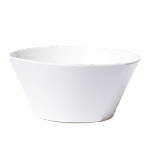 (Vietri Melamine Lastra White Large Stacking Serving Bowl)