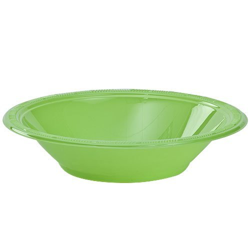 Hanna K. Signature Collection 50 Count Plastic Bowl, 15-Ounce, Lime -