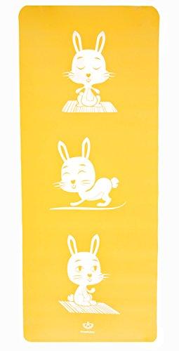 Baby Yoga Mat (Eco-Friendly Kids Yoga Mat - Rabbit (Yellow) | Non-Toxic | Non-Slip | No PVC | Cute Yoga Characters | by SweetLime …)