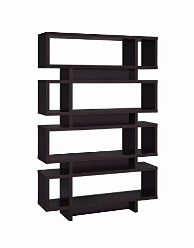 - Coaster Home Furnishings 4-Tier Bookcase Cappuccino