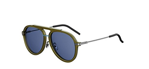 New Fendi FF M 0011/S 1ED/KU Green/Blue Avio Sunglasses