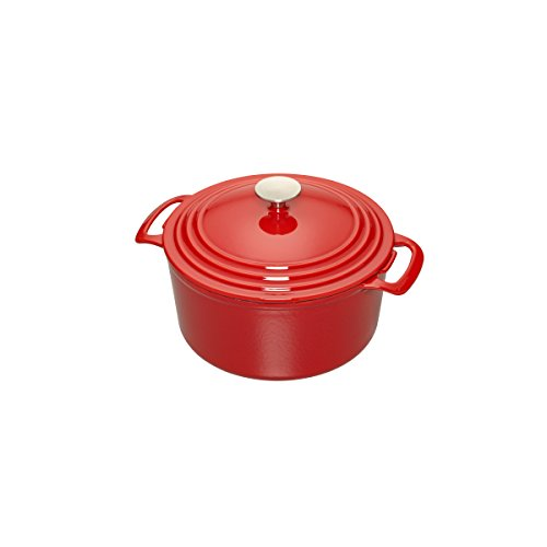 Cooks Enameled Cast Iron 3.5 quart Dutch Oven, Red