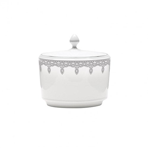 Lismore Lace Platinum Sugar Bowl with Lid