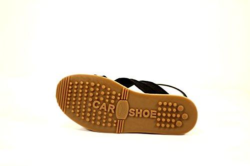 Mujer Sin Shoe Tacon Sandalias Car xw5F1w