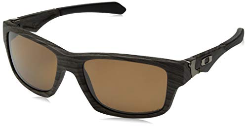 (Oakley Men's OO9135 Jupiter Squared Rectangular Sunglasses, Woodgrain/Prizm Bronze Polarized, 56 mm)
