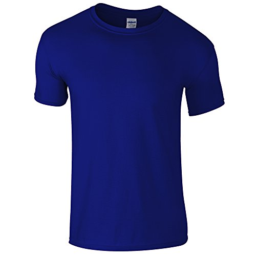Gildan Mens Short Sleeve Soft-Style T-Shirt (XL, Metro Blue)