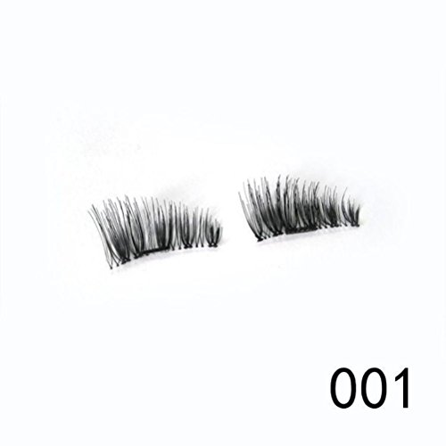 LandFox Ultra Thin 02mm Magnetic Eye Lashes 3D Reusable False Magnet Eyelashes Extension
