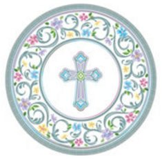 Inspirational Religious Party Supplies for 36 People Dessert Plates 2-ply Napkins 72 Piece Bundle