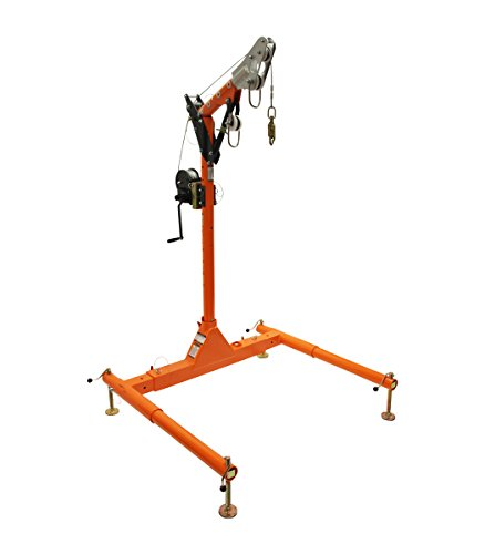 Falltech 6050228W 5 piece Confined Space Davit System with Winch Arm Adjusts From 12″ to 29″ ()