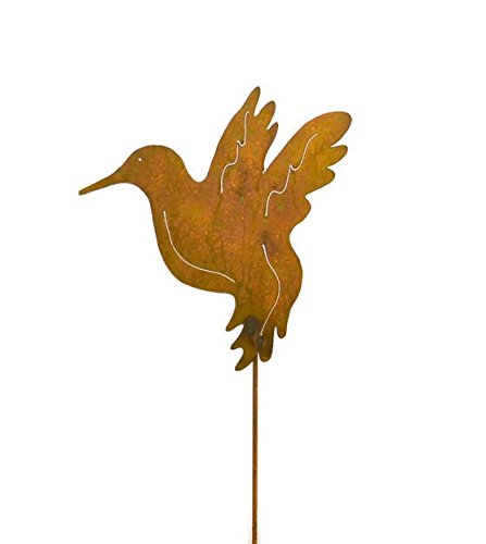 Hummingbird Decorative Metal Garden Stake, Whimsical Yard Art! by Oregardenworks