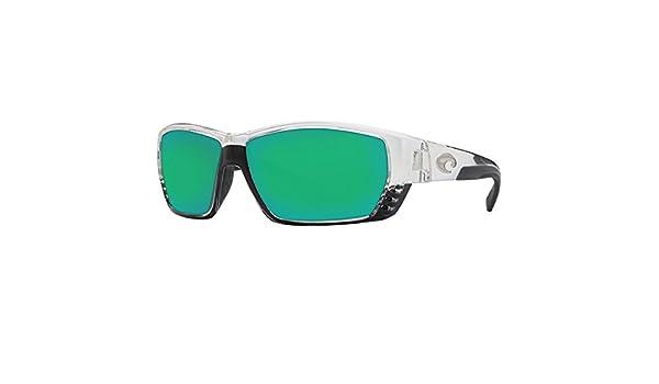 6c37ca163b9 Costa Del Mar Tuna Alley Sunglasses Crystal   Green Mirror 580Glass at  Amazon Men s Clothing store