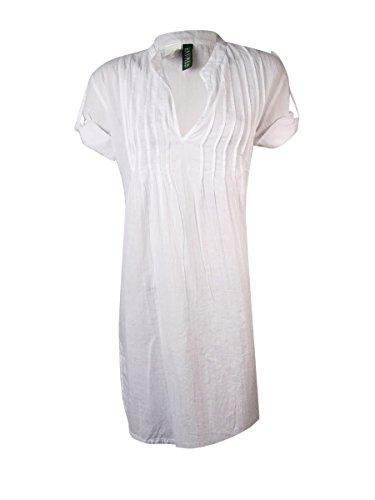 Cheap Lauren by Ralph Lauren Women's Crushed Cotton Darcy Tunic Cover-up hot sale