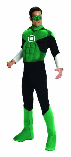 Green Lantern Deluxe Costume, Green, Medium