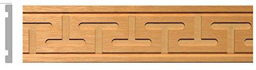 Greek Key Molding - GW971 Carved Greek Key Wood Moldings in Beech wood (40ft) 2-3/4