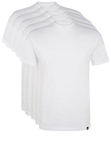 Ultrasport Herren Sport Freizeit T-Shirt mit Rundhalsausschnitt 5er Set, Weiß, XL, 1317-100