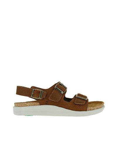 N5091 Pleasant Wood/KOI Leather Woman Sandals Buckle SZ1Do3Cpo