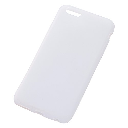 Silky Type Silicone Jacket for iPhone 6 Plus (White / Translucent)