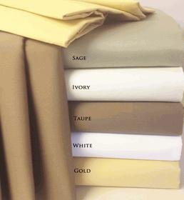 22 INCH SUPER DEEP POCKET 100% EGYPTIAN COTTON QUEEN SHEETS IVORY 600 THREAD COUNT by Royal Tradition