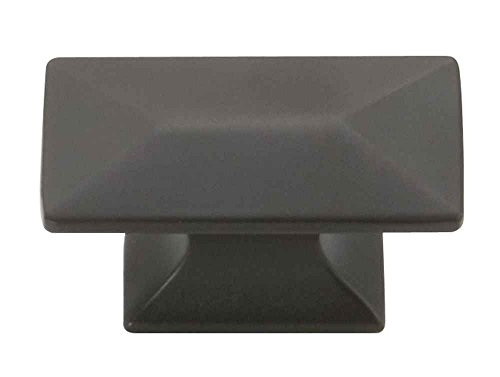 Hickory Hardware P2151-OBH Bungalow Collection 0.9375 Inch T Shaped Cabinet Knob, Oil-rubbed Bronze Highlighted Finish ()