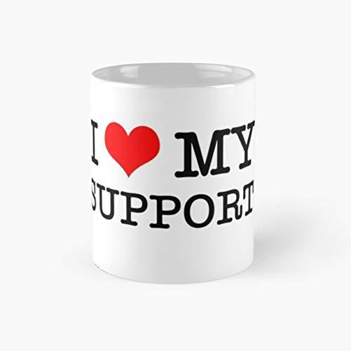 I Love My Support Mug feed Tea Cups, 11 Ounce Ceramic Mugs, Perfect Novelty Gift Mug, Funny Gift Mug, Tea Mugs, Funny Coffee Mug -