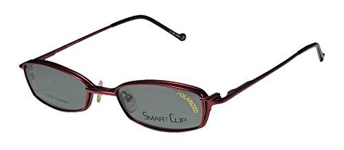 SmartClip 510t Mens/Womens Designer Full-rim Titanium Sunglass Lens Clip-Ons Flexible Hinges Eyeglasses/Spectacles (48-18-140, Matte - Sunglasses Flexible Titanium