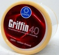 Griffin40 Eyebrow Thread - 300m (100% cotton) by Bombay Collections