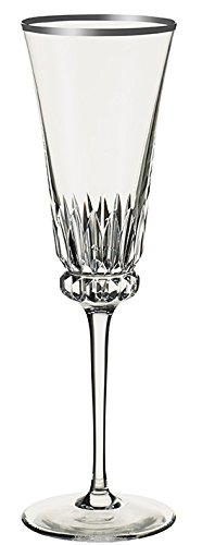 Villeroy & Boch Grand Royal Platinum Champagne Flute, 230 ml, Crystal Glass, Transparent