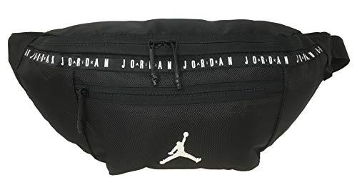 Nike Air Jordan Over sized Taping Crossbody Bag (One Size, Black) (Best Medium Sized Crossbody Bag)