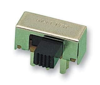 MFP201N-RA - Slide Switch, MFP201NRA Series, DPDT, Horizontal, Through Hole, 350 mA (Pack of 20) (MFP201N-RA) by KNITTER-SWITCH