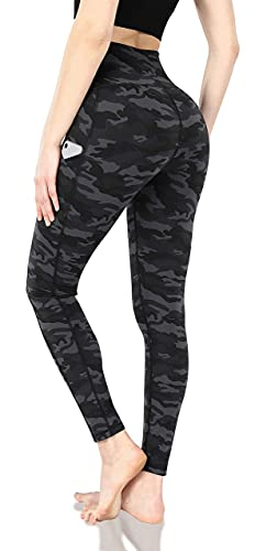 Lingswallow High Waist Yoga Pants - Capris Leggings with Pockets for Women Workout Sports Pattern Yoga Pants